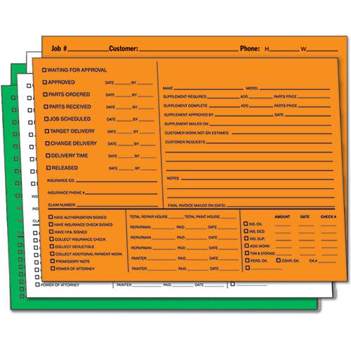 Color-Coded Repair Order Folders