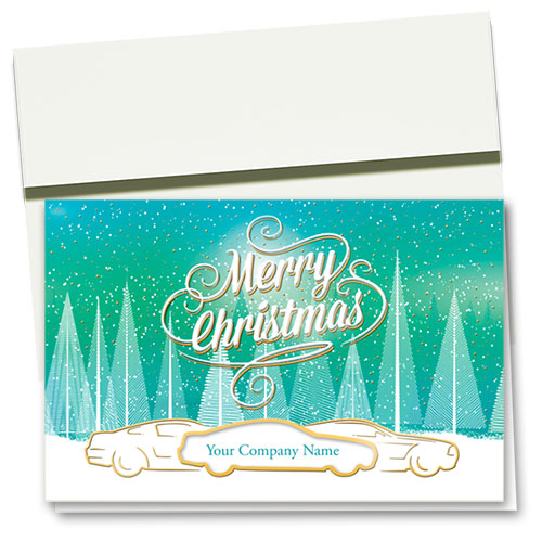 Premium Foil Holiday Cards - Bright Snowfall