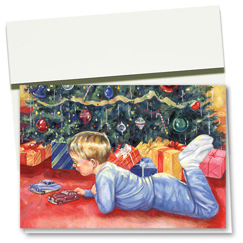 Personalized Deluxe Full-Color Holiday Cards - Christmas Wishes