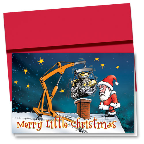 Personalized Deluxe Full-Color Holiday Cards - Santa's Dilemma