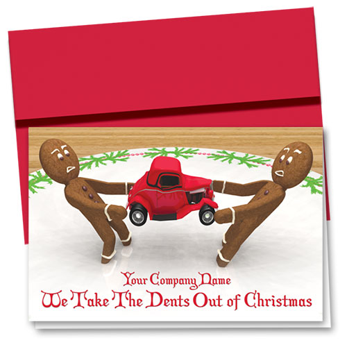 Double Personalized Full-Color Holiday Cards - Cookie Collision