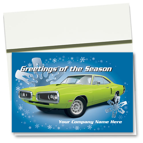 Double Personalized Full-Color Holiday Cards - Chromed Snowflakes