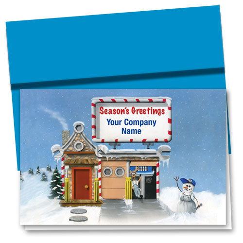 Double Personalized Full-Color Holiday Cards - Repair Cottage