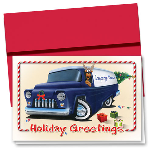 Double Personalized Full-Color Holiday Cards - Holiday Express