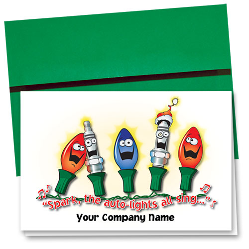 Double Personalized Full-Color Holiday Cards - Holiday Sparks