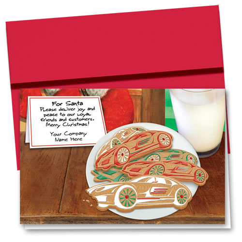 Double Personalized Full-Color Holiday Cards - Cookies for Santa