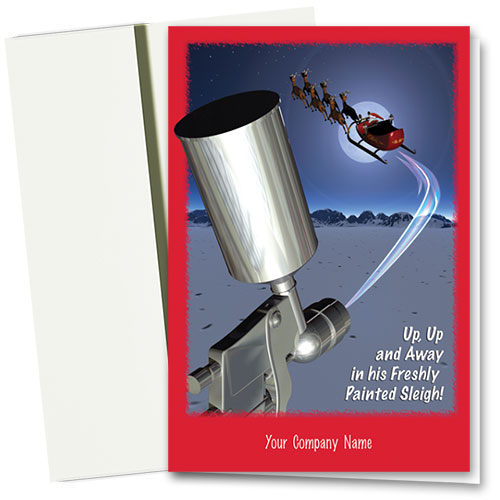 Double Personalized Full-Color Holiday Cards - Detailed Sleigh