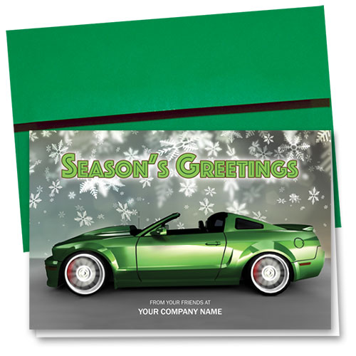 Double Personalized Full-Color Holiday Cards - Virescent Greetings