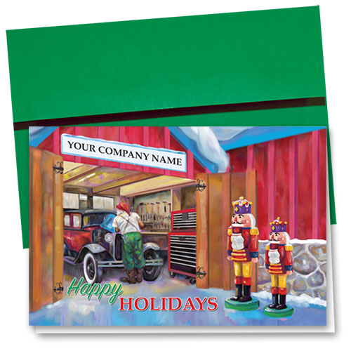 Double Personalized Full-Color Holiday Cards - Nutcracker Repair