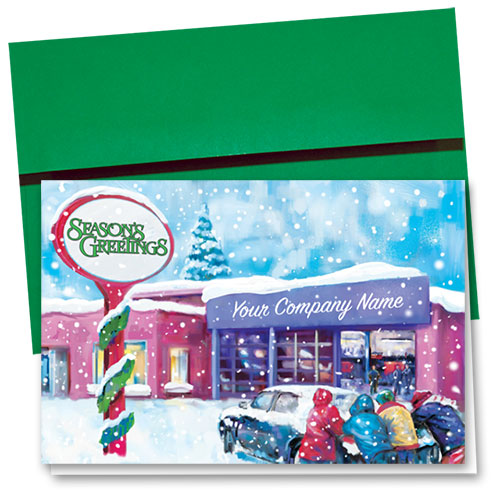 Double Personalized Full-Color Holiday Cards - Holiday Help