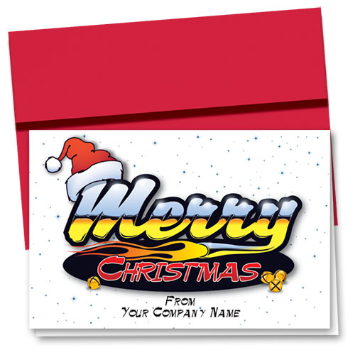 Double Personalized Full-Color Holiday Cards - Merry Reflection