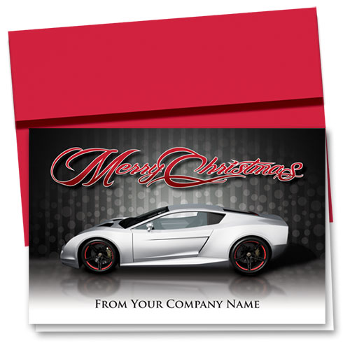 Double Personalized Full-Color Holiday Cards - Silver Shimmer