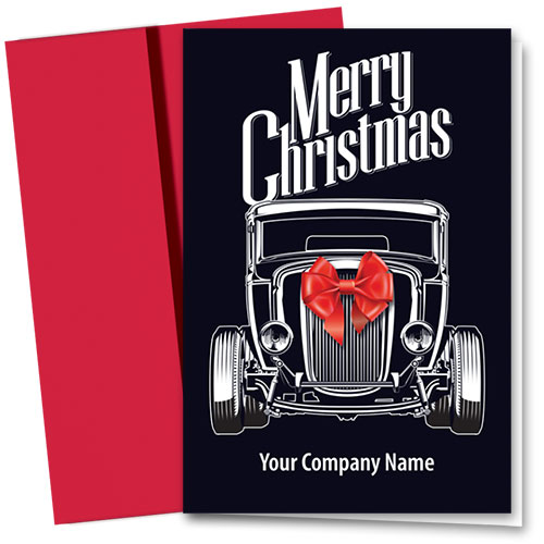 Double Personalized Full-Color Holiday Cards - Christmas Bow