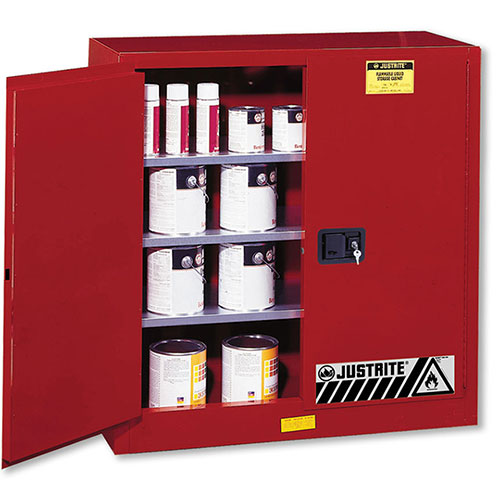 Justrite Paint Storage Safety Cabinet - Self Closing Door