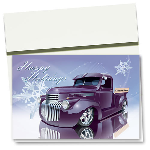 Double Personalized Full-Color Holiday Cards - Snowflake Reflections