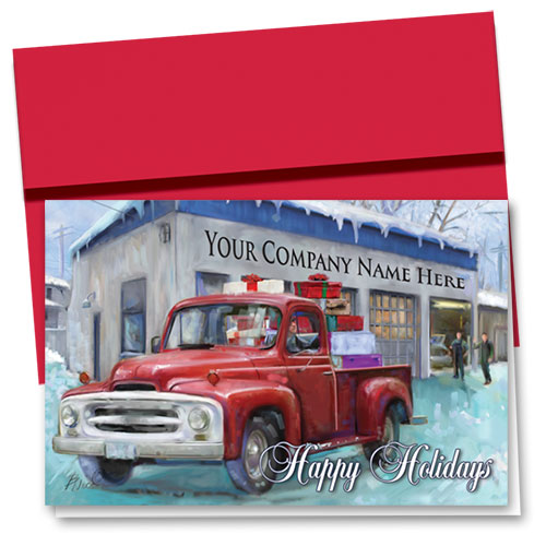 Double Personalized Full-Color Holiday Cards - Homebound Delivery