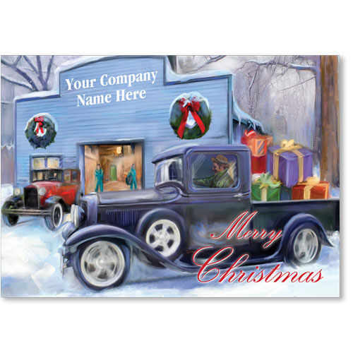 Double Personalized Full-Color Holiday Postcard - Holiday Homeward