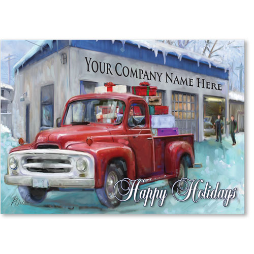 Double Personalized Full-Color Holiday Postcard - Homebound Delivery