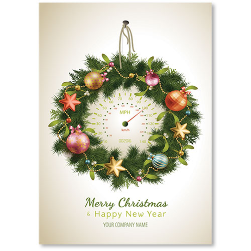 Double Personalized Full-Color Holiday Postcard - High Speed Decor