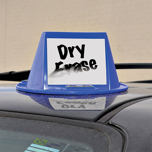 Magnetic Car Top Hats - Dry Erase