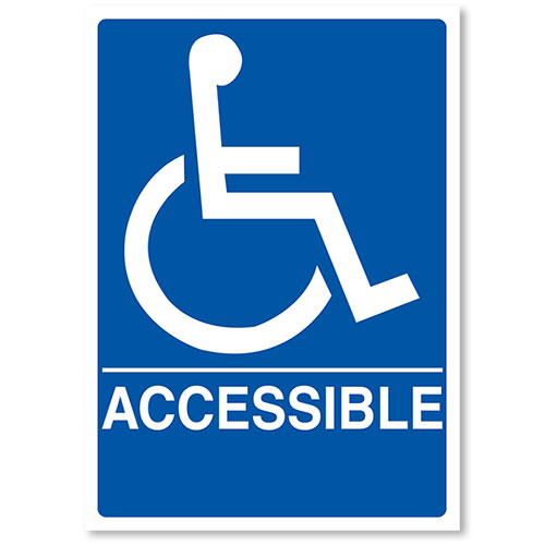 "ADA Compliant Signs - Accessible 7"" X 10"""