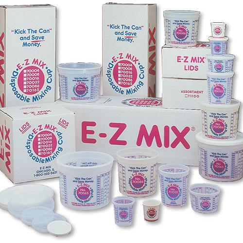 E-Z Mix 1 Pint Plastic Cups (Case of 100)