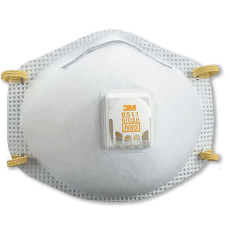 3M N95 Particulate Respirator W Exhalation Valve (10)