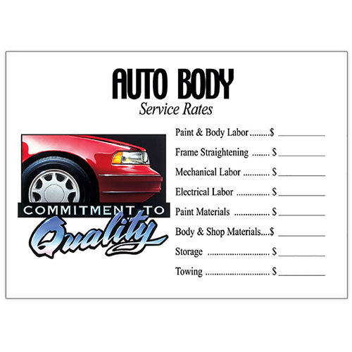 Commitment to Quality Signs - Auto Body | Auto Shop Signs