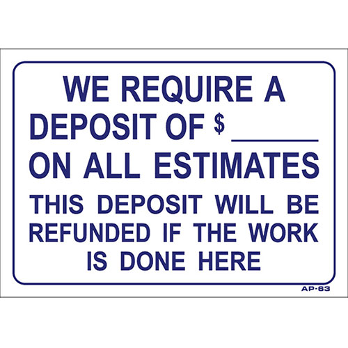 "Shop Sign - Deposit - 10"" x 14"""