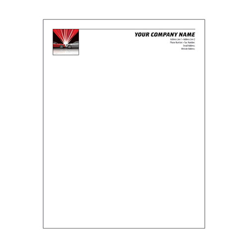 Automotive Business Letterhead (250) - Flash