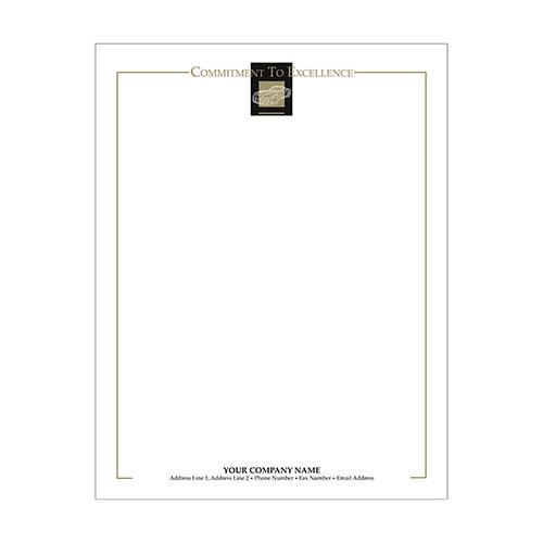 Automotive Business Letterhead (250) - Wire Frame Black/Gold