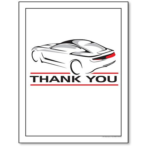 Large Paper Floor Mats - Race Car - No Imprint