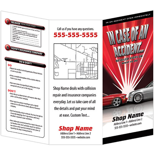Auto Repair Brochures - In Case of An Accident, Flash (250)