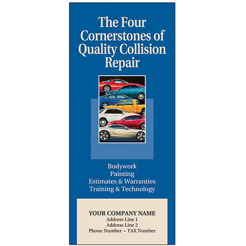 Auto Repair Brochures - 4 Cornerstones Auto Repair Brochures - Stacked Car
