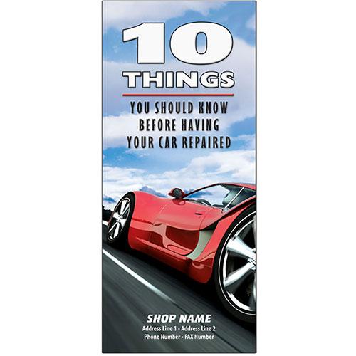 """Auto Repair Brochures - """"10 Things"""" Red Racer (250)"""