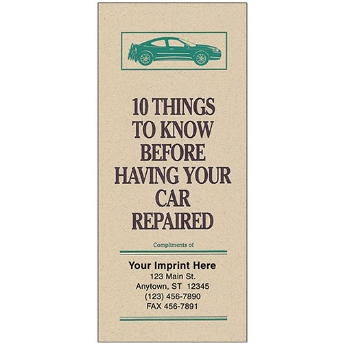 "Auto Repair Brochures - ""10 Things"" - Tan"
