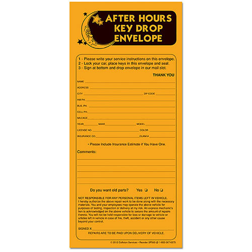 Day/Night Drop-Off System Replacement Envelopes - (500)