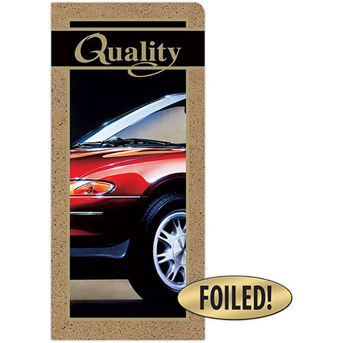 Car Document Folders - Quality - Gold Foil