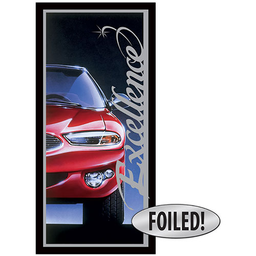 Car Document Folders - Excellence - Platinum Foil