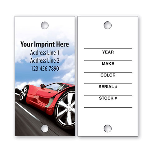 Full-Color Key Tags - Red Racer