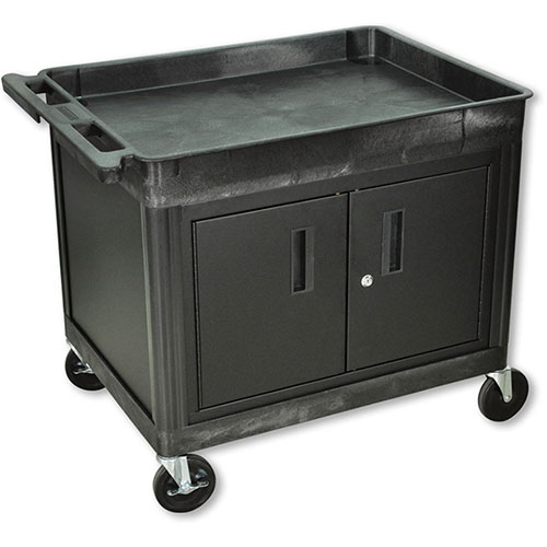 Large Utility Cart With Cabinet