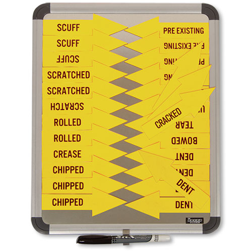 Magnetic Arrows System Yellow Auto Shop Supplies