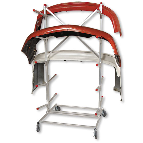 Mobile Double Bumper Rack