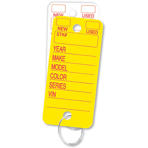 Solid Color Key Tags