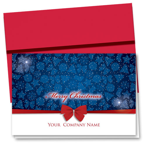 Personalized Premium Foil Holiday Cards - Christmas Night Sky