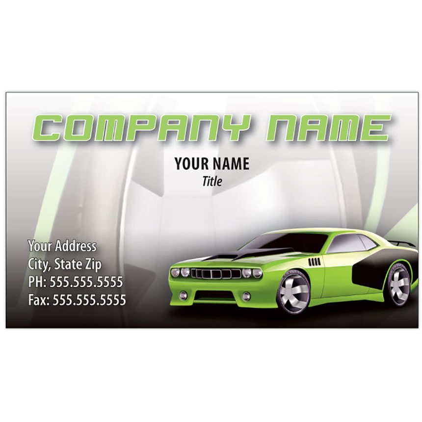 Full-Color Auto Repair Business Cards - Barracuda