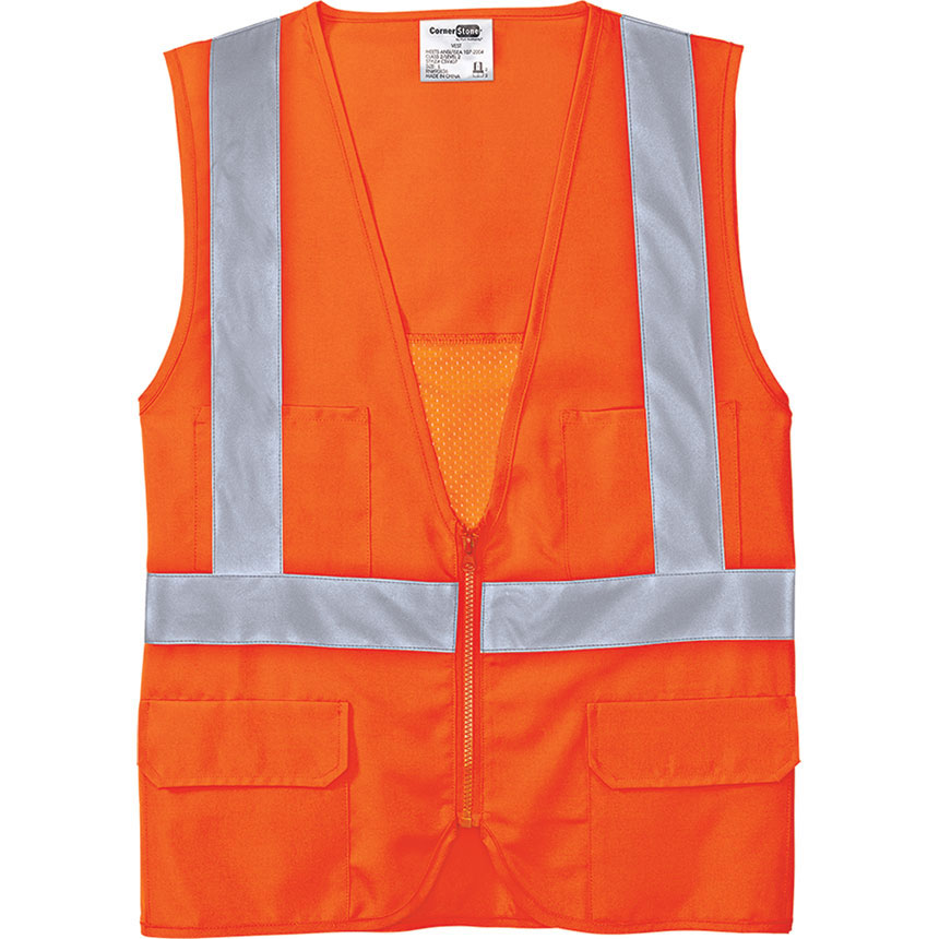 C/S Vest Safety ANSI 107 Class 2 Mesh Back