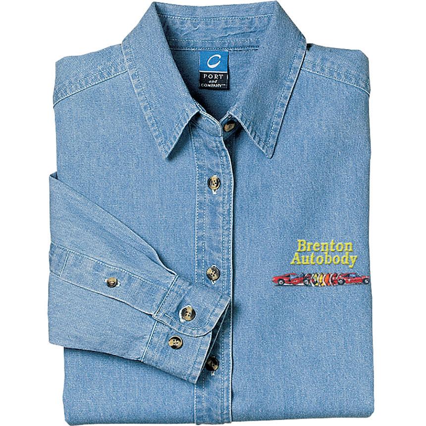 P/C Shirt Ladies LS Denim