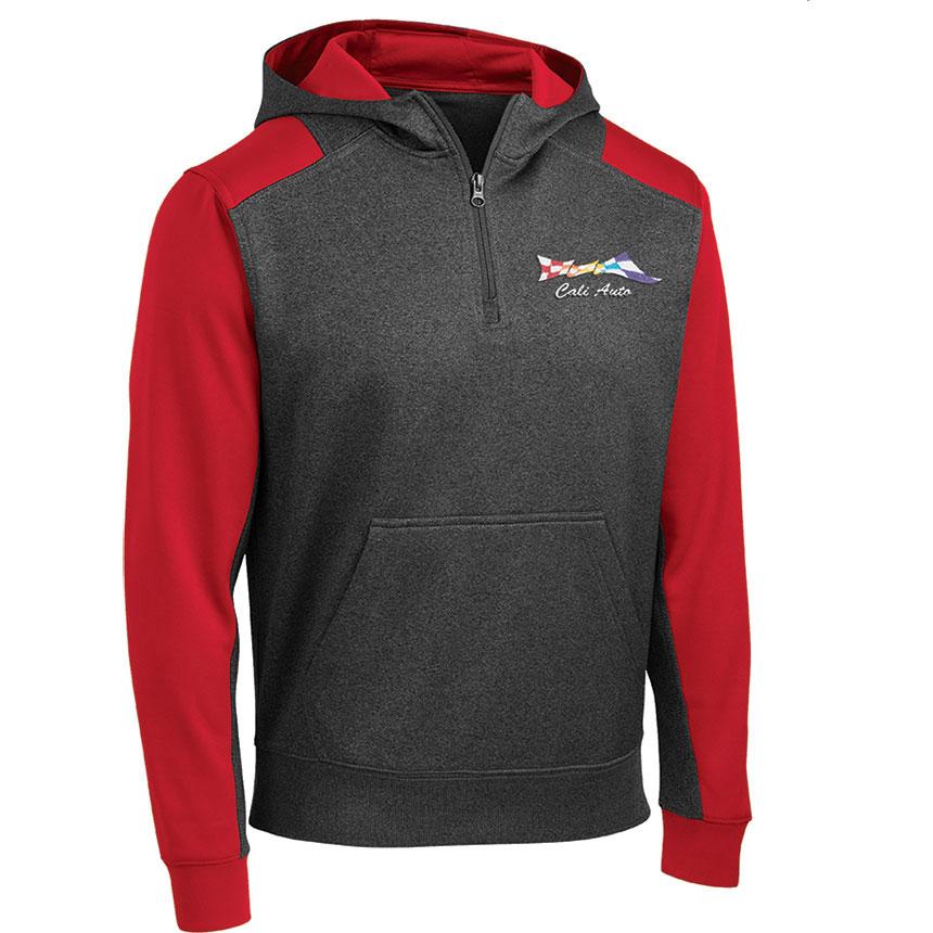 S/T Sweat Tech Fleece Colorblock 1/4 Zip Hooded