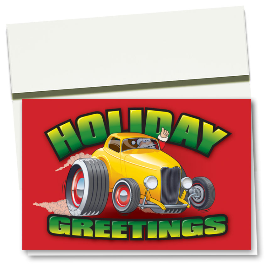 Personalized Deluxe Full-Color Holiday Cards - Holiday Burnout